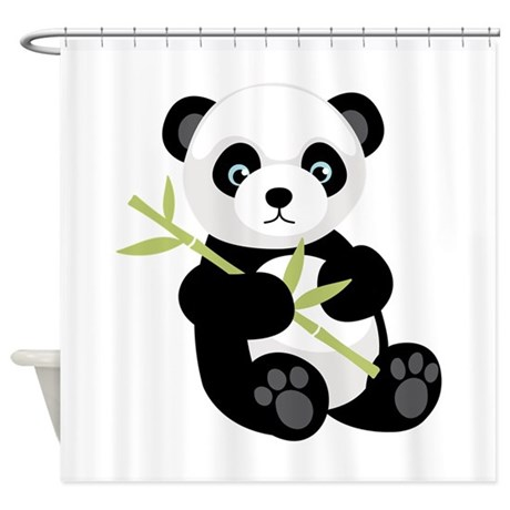 Panda Sayings Shower Curtains Panda Sayings Fabric Shower