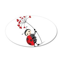 ladybug with heart tree Wall Decal by UnderTheSea2