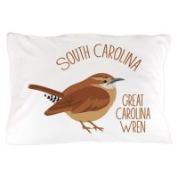 GREAT CAROLINA WREN Pillow Case by Hopscotch9