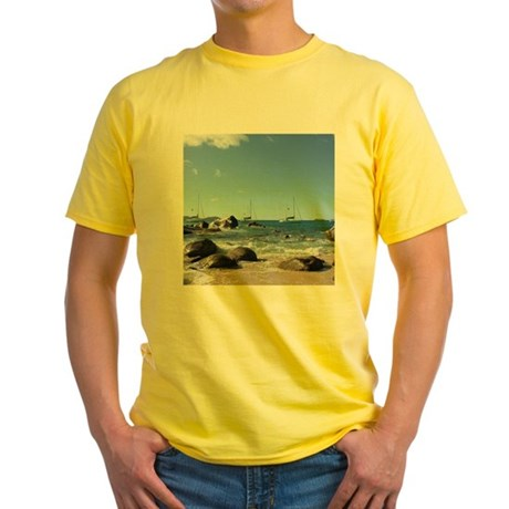 BVI Sailing Boats Yellow T-Shirt
