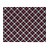 Red and White Plaid Pattern Throw Blanket by thetestshop