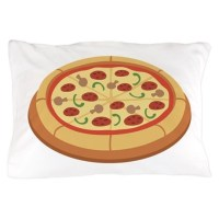 Pizza Pillow Case by Hopscotch10