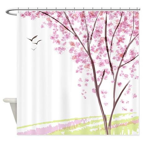 Sakura Shower Curtains Sakura Fabric Shower Curtain Liner
