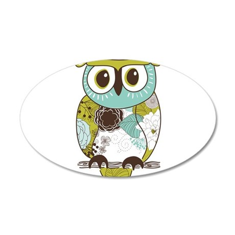 Teal Green Owl Wall Decal by WorldofAnimals