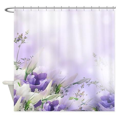 Beautiful Floral Shower Curtain by BestShowerCurtains