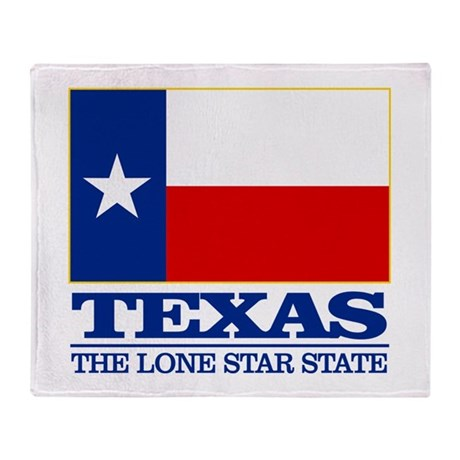 Texas State Flag Throw Blanket by FlagHistoric