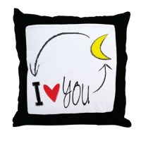 I love you to the moon and back Throw Pillow by V_Ink