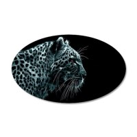 Snow Leopard Wall Decal by CoolBedding