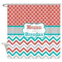 Teal And Coral Bathroom Accessories & Decor - CafePress