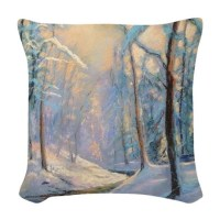 Snow Scene Pillows, Snow Scene Throw Pillows & Decorative ...