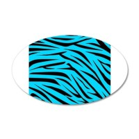 Teal and Black Zebra Stripes Wall Decal by BeachBumFamilyShop