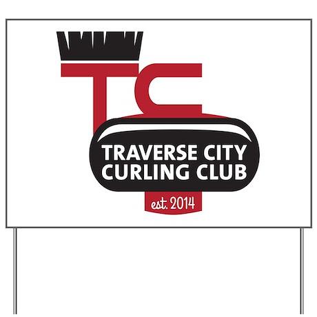 TC Curling Club Logo Yard Sign by TCCurling