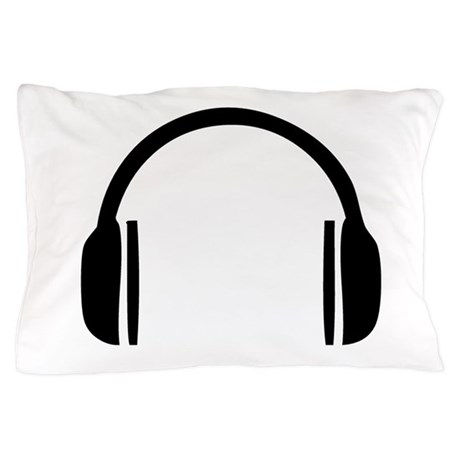 Headphones Pillow Case by MusicParty