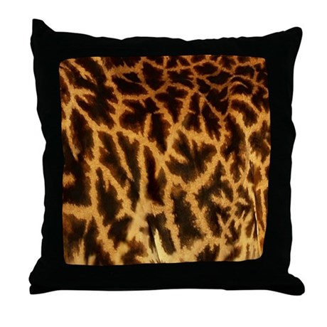 Giraffe Throw Pillow by MoodyMuse