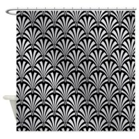 Elegant Black and Silver Art Deco Shower Curtain by ...