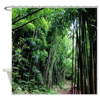 Bamboo Forest Hawaii Tropical Shower Curtain by SkyStudio ...