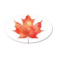 Maple Leaf Art Wall Decal by 1930Originals