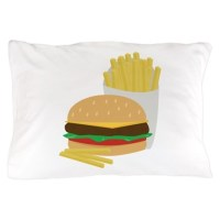Burger and Fries Pillow Case by Windmill6
