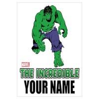 Personalized Incredible Hulk Wall Art Canvas Art