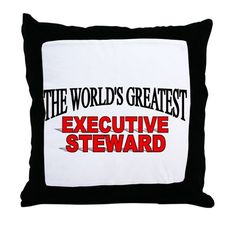 The Worlds Greatest Executive Steward Throw Pil by thegreatestshop