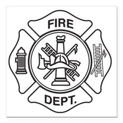 fire department symbol square template magnet favorite