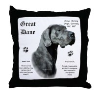 Blue(n) History Throw Pillow by gr8daneshoppe