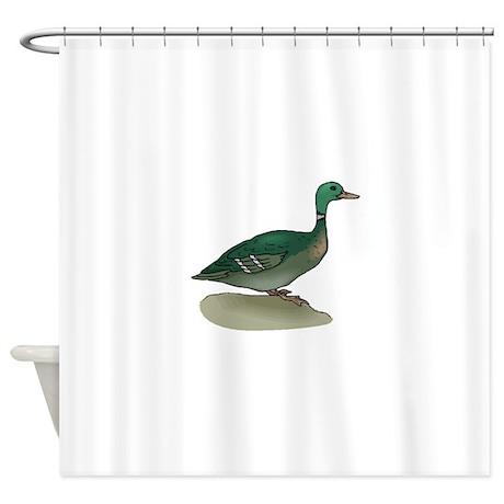 Mallard duck shower curtain by coolbirds