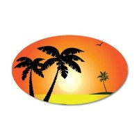 Tropical Sunset Wall Decal by UnderTheSea2