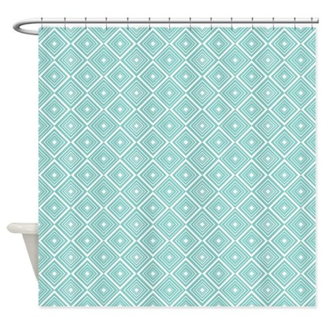 Diamond pattern blue and white shower curtain jpg color white amp height