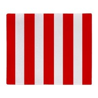 Red And White Vertical Stripes Throw Blanket by BeautifulBed