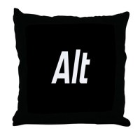 CTRL ALT DEL - BLACK Throw Pillow by BeautifulBed