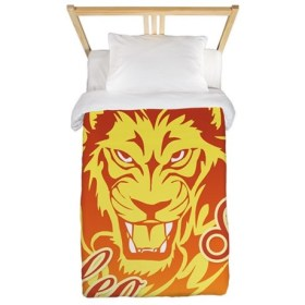 Zodiac Sign Leo Symbol Twin Duvet