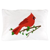 Cardinal Bird Pillow Case by Windmill21