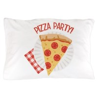 Pizza Party Pillow Case by Hopscotch14