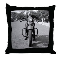 Girl Riding Motorcycle, 1937 Throw Pillow by listing-store ...