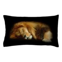 Sleeping Lion Pillow Case by FantasyArtDesigns