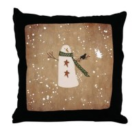 Primitive Christmas Pillows, Primitive Christmas Throw