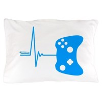 Gamer Heartbeat Pillow Case by Kyandii3