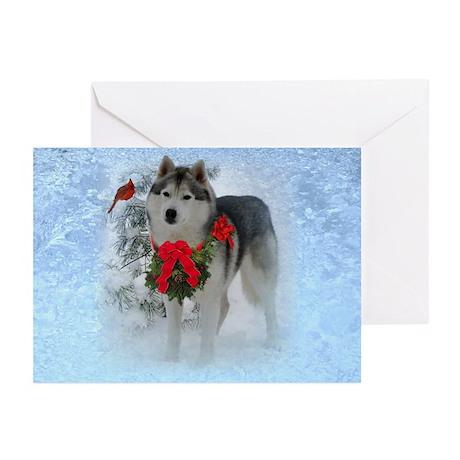 Siberian Husky Christmas Greeting Cards Card Ideas