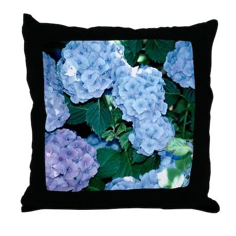 Blue Hydrangeas Pillows, Blue Hydrangeas Throw Pillows