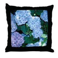 Blue Hydrangeas Pillows, Blue Hydrangeas Throw Pillows