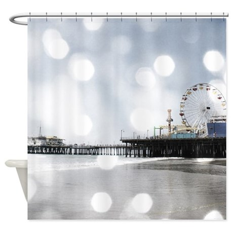 Grey Sparkling Pier Shower Curtain