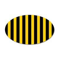 Black And Yellow Stripes Wall Decal by BeautifulBed