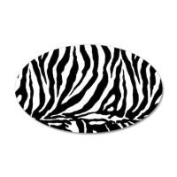 Zebra stripe, black & white Wall Decal by PixDezines