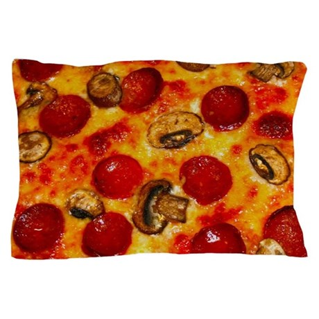 Pepperoni and Mushroom Pizza Pillow Case by Admin_CP114807468