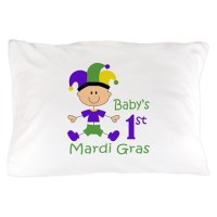 BABYS FIRST MARDI GRAS Pillow Case by Greatnotions10