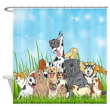 Dog Groomer Cute Dogs Shower Curtain ...
