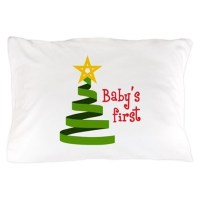 BABYS FIRST CHRISTMAS Pillow Case by Greatnotions12