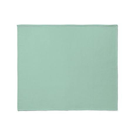 beach seafoam green Throw Blanket by ADMIN_CP62325139