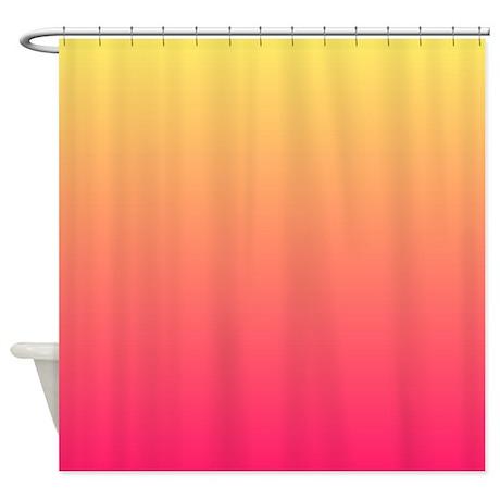 Hot Pink Orange Shower Curtains Hot Pink Orange Fabric Shower